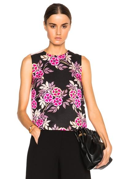 MSGM Floral Print Top in Pink