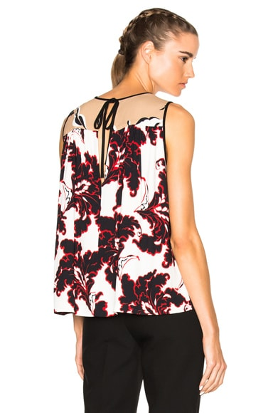 MSGM Printed Sleeveless Top in Black