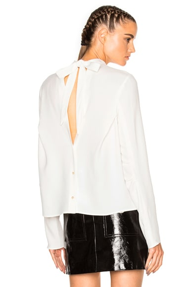 MSGM Open Back Top in White