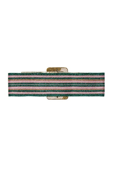 Wide Metallic Belt