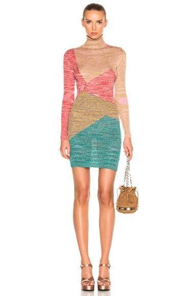Rib Knit Long Sleeve Mini Dress