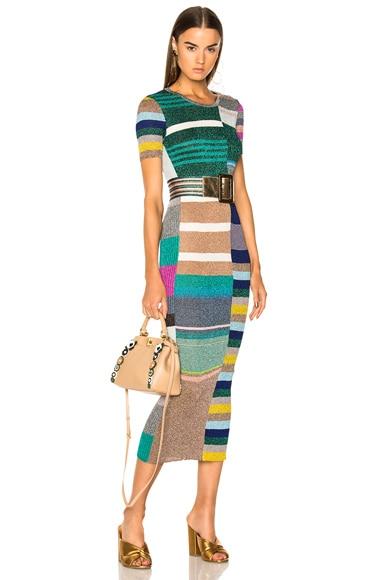 Short Sleeve Printed Knit Maxi Dress