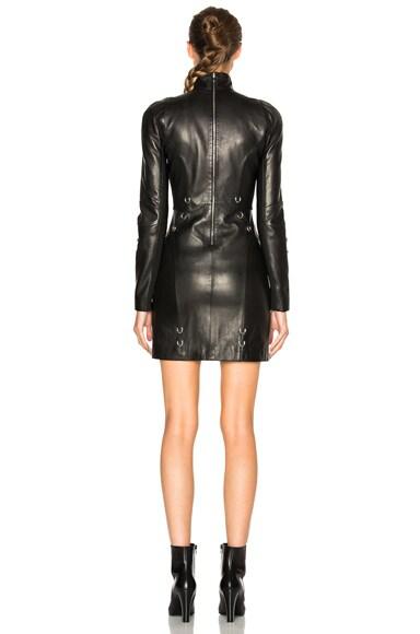 Leather Piercing Mini Dress
