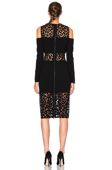 Leopard Velour & Fitted Cady Dress