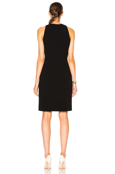 Embossed Wave Technical Cady Dress