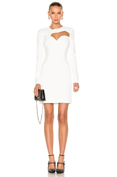 Mugler Viscose Cady Dress in Natural White