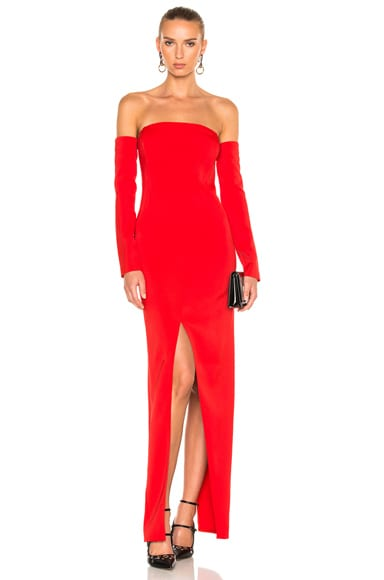 Mugler Viscose Cady Gown in Emergency