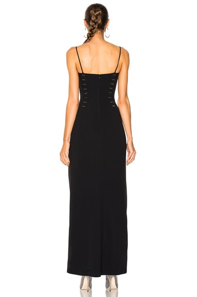 Crepe High Slit Gown