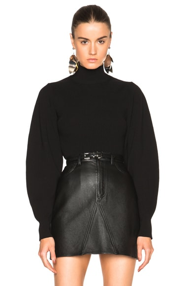 Mugler Exaggerated Volume Sweater in Black