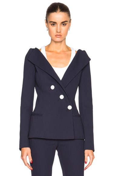 Mugler Tailored Twill Jacket in Dark Navy
