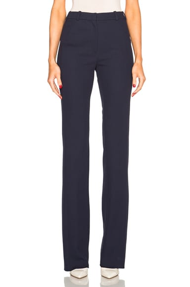 Mugler Tailored Twill Trousers in Dark Navy