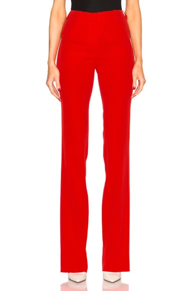 Mugler Fitted Cady Trousers in Poppy