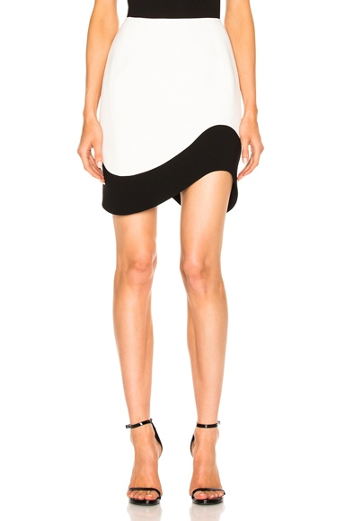 Mugler Double Sable Skirt in Natural White