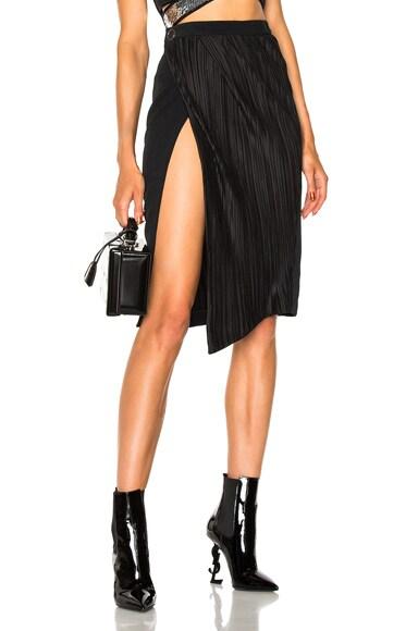Plissee Wrap Skirt