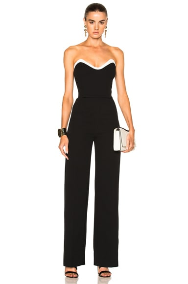 Technical Cady Bicolor Jumpsuit Mugler