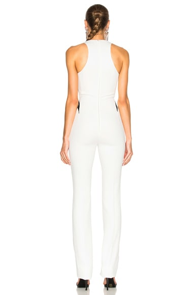Technical Cady Leather Embossed Wave Jumpsuit