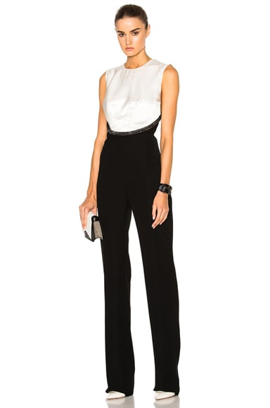 Mugler Velvet Cady Jumpsuit in Black