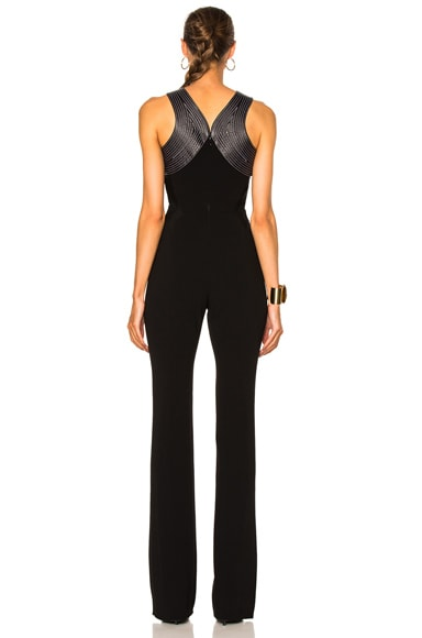 Fitted Cady Topstitch Jumpsuit