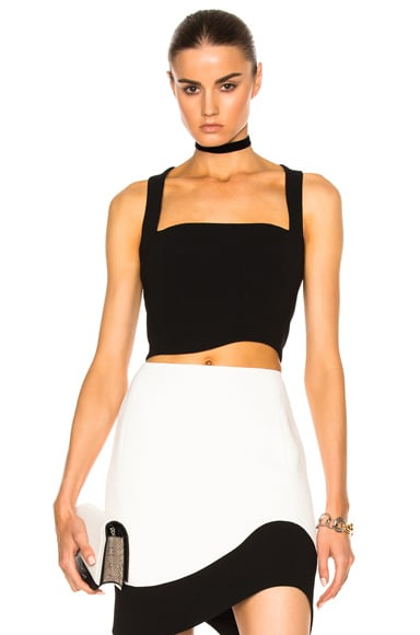Mugler Technical Cady Top in Black