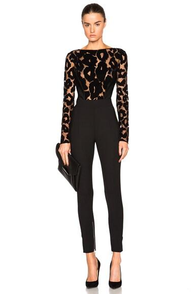 Leopard Velour & Mega Milano Bodysuit