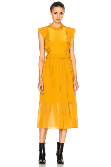 Marissa Webb Florence Silk Dress in Marigold