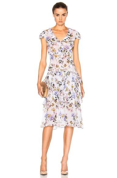 Marissa Webb Lana Print Dress in Lilia Grey