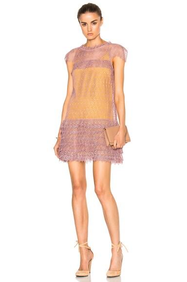 Marissa Webb Austin Lace Dress in Winter Blush Combo
