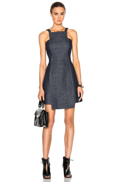 Marissa Webb Sia Double Knit Dress in Black Sea