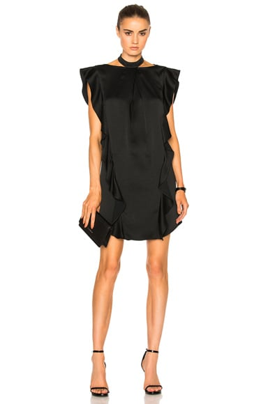 Marissa Webb Kera Satin Crepe Dress in Black