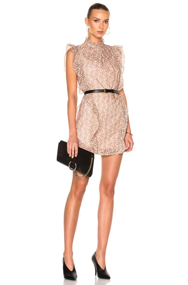 Marissa Webb Alaina Lace Dress in Blush Shade