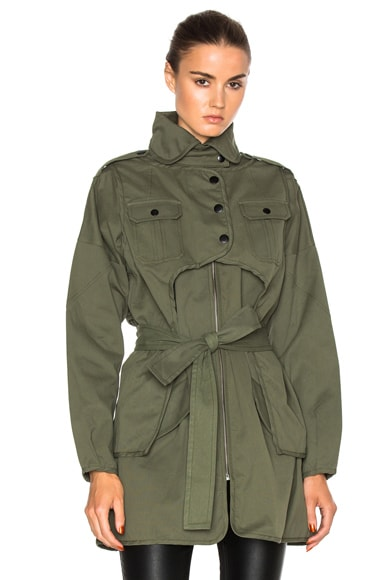 Marissa Webb Nicholas Canvas Jacket in Military Green
