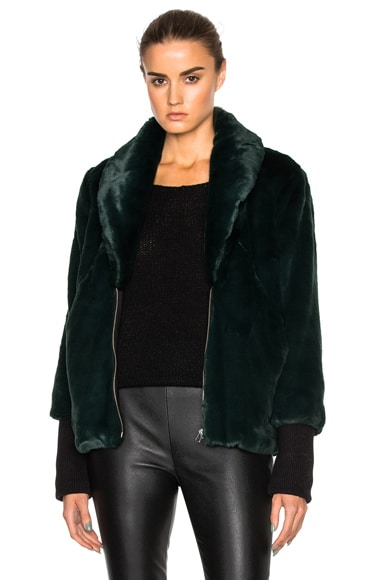 Marissa Webb Aria Faux Fur Coat in Ivy