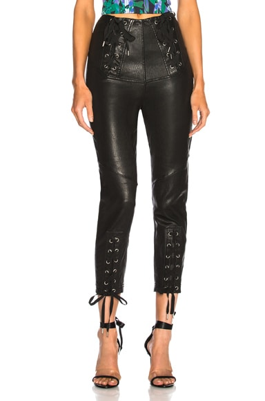 Nilda Leather Lace Up Pant
