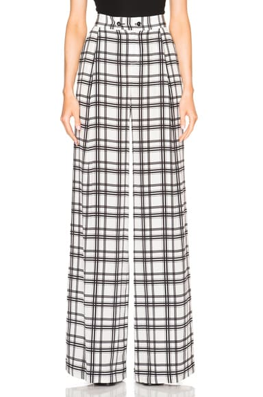 Marissa Webb Erika Pants in Duo Color Plaid