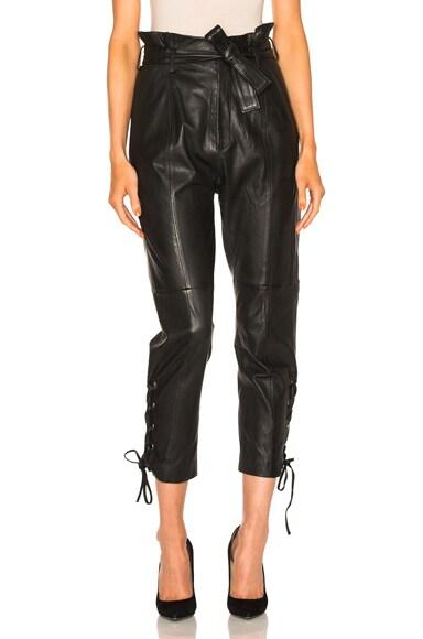 Marissa Webb Kitana Leather Pant in Black