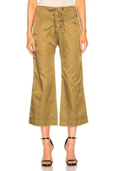 Marissa Webb Parker Cropped Pant in Olive