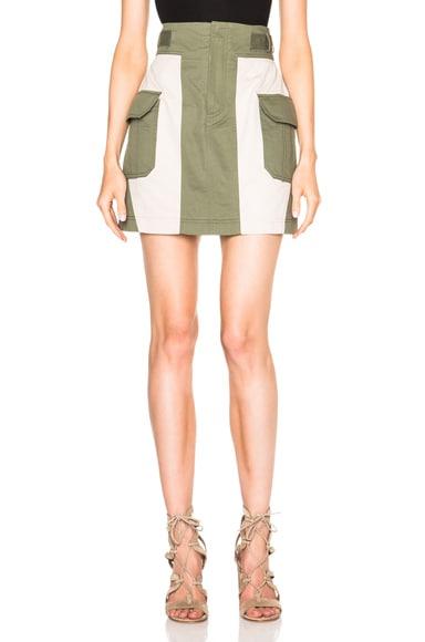 Marissa Webb Briar Skirt in Khaki Combo