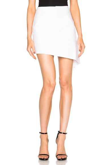 Marissa Webb Lily Asymmetric Skirt in White