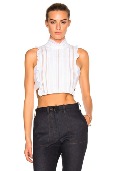 Marissa Webb Yvette Dickie Top in White
