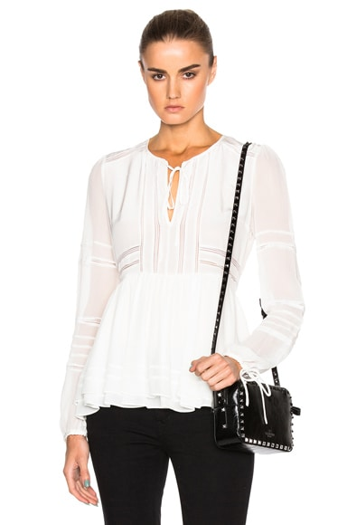 Marissa Webb Bella Silk Top in White