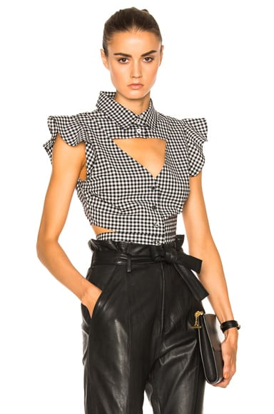 Marissa Webb Denise Gingham Blouse in Birch