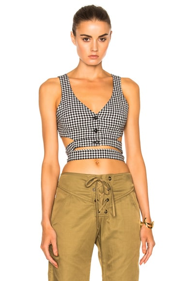 Marissa Webb Marissa Webb Gigi Gingham Shell in Birch