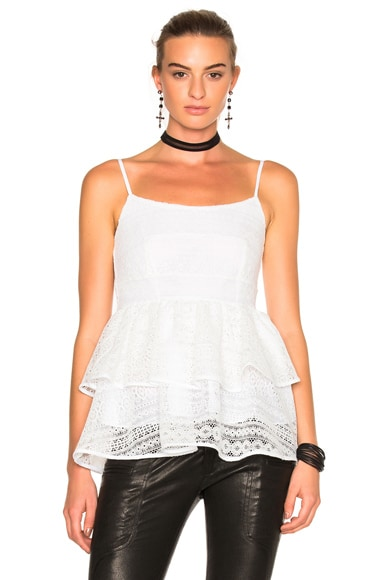 Marissa Webb Belinda Lace Top in White