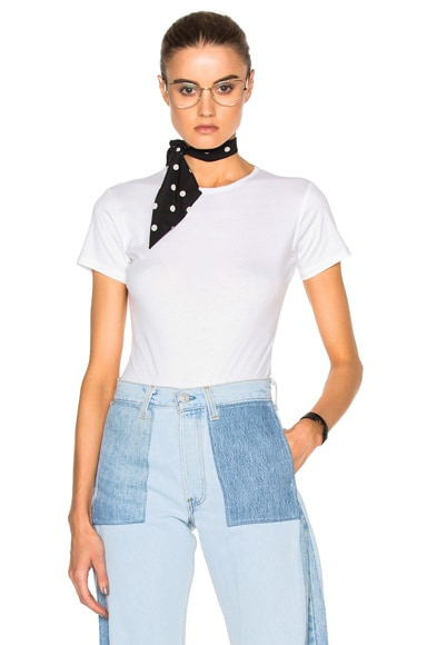 Maryam Nassir Zadeh Lara Tee Bodysuit in White