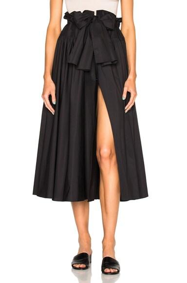 Maryam Nassir Zadeh Carlita Skirt in Black Poplin