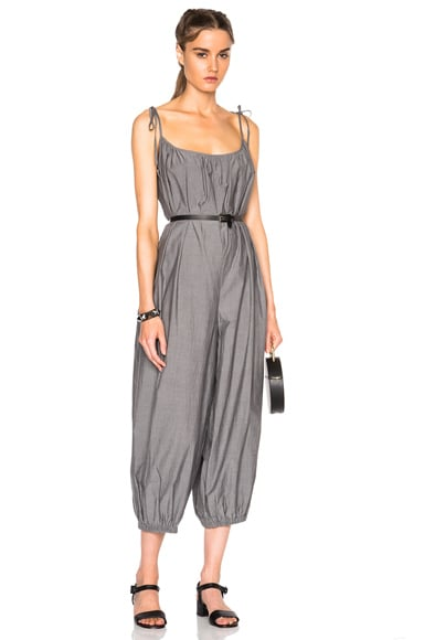 Maryam Nassir Zadeh Delfina Jumpsuit in Faded Black Cotton
