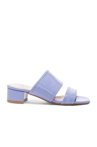 Maryam Nassir Zadeh Patent Leather Martina Slide Sandals in Periwinkle Patent
