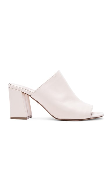 Maryam Nassir Zadeh Penelope Leather Mules in Cream Leather