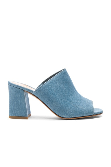 Maryam Nassir Zadeh Denim Penelope Mules in Light Denim