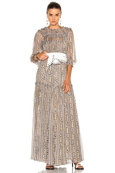 Needle & Thread Fleur Maxi Dress in Dust Blue